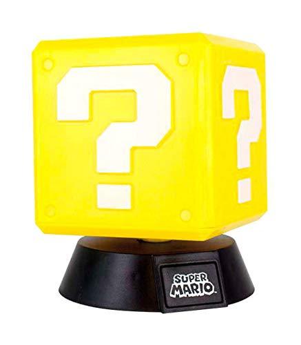 Unbekannt Super Mario Question Block 3D Leuchte Icon Light Nintendo, plastik, Mehrfarbig, 2