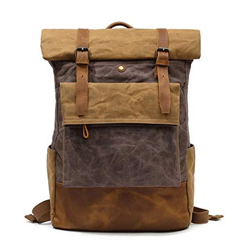 TnXan Men Casual Daypacks Hiking Backpack Trekking Rucksacks Vintage Canvas Backpack School Boys Designe Casual Fashion Waterproof Travel Bag Male Back Pack Bagpack