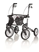 Topro Olympos Deluxe Folding Rollator - 4 Wheel Outdoor Walker (Choose Size)