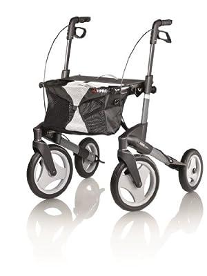 Topro Olympos Deluxe Folding Rollator - 4 Wheel Outdoor Walker (Choose Size)