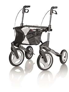 Topro Olympos Deluxe Rollator - 4 Wheeled Outdoor Walker (Medium) by Topro