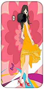 Snoogg Urban Girl 2825 Designer Protective Back Case Cover For Htc One M9