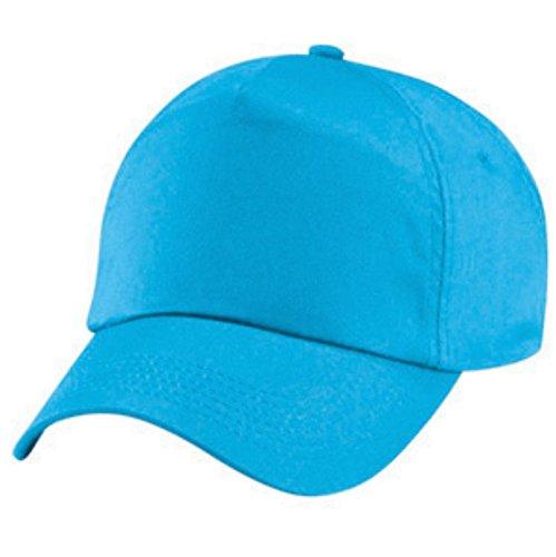 Beechfield - cappellino tinta unita 100% cotone - bambino (taglia unica) (azzurro mare)