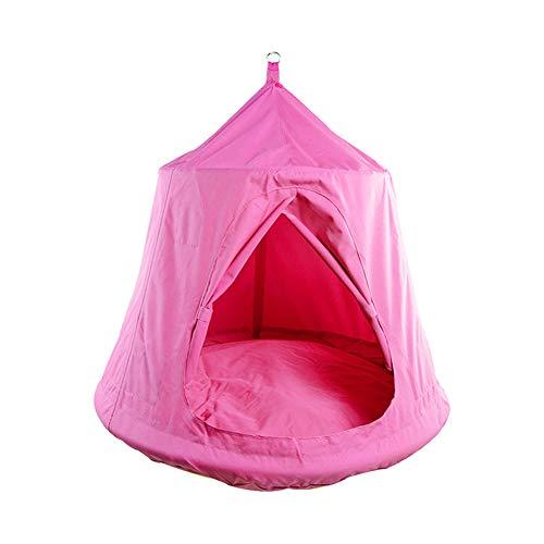 JTYX Kinder Schaukel Stuhl Indoor Outdoor Hängesessel Hängematte Freizeit Camping Hängen Zelt,Pink,110X120CM