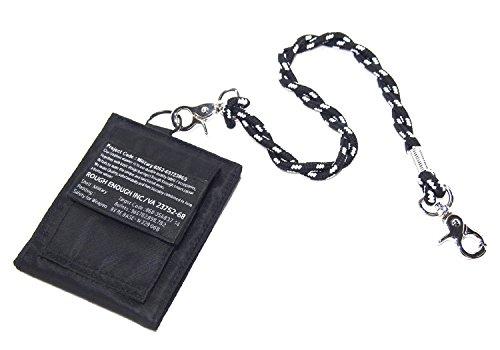 rough-enough-morbido-militare-bifold-portafoglio-in-nylon-leggero-sottile-funzionale-nero
