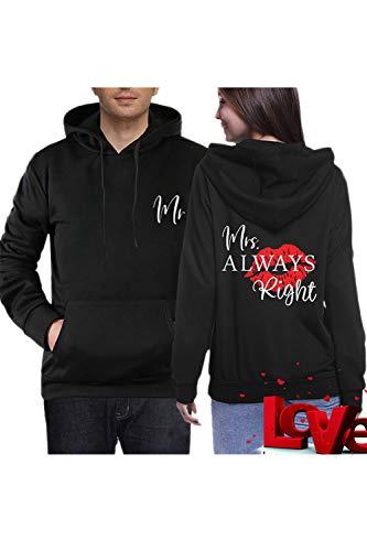 Jumojufol Passend Paar Kapiert Sweatshirts Herr Frau Seine  Ihr Packung Schwarz Frauen M+Männer XL (Seine Ihrs Pullover)