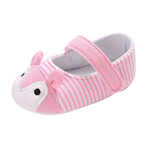 Mitlfuny Niños Zapatos de Primeros Pasos Primavera Verano Lindos Princesa Zapato para bebé Niñas Dibujos Animados Conejo Raya Cuna Zapatitos Antideslizantes Suela Suave Zapatillas Niña 0-18 Meses