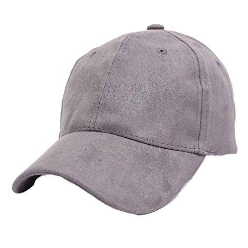 Ularma Erwachsene Mütze Sport Freizeit Baseball Cap Hochwertige Baseballkappe (Grau) (Vintage Wildleder Cap)