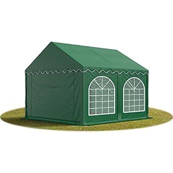 TOOLPORT Tente Barnum de Réception 3x3 m PREMIUM Bâches Amovibles PVC 500 g/m² vert fonce + Cadre de Sol Jardin INTENT24