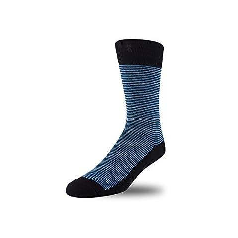 STÓR – Chaussettes en Bambou – Chaussettes Hautes de Maintien Antibactériennes Effet Contention – Anti Transpiration – Toucher Luxurieux Ultra Doux (Large (43-46EU / 9-12UK), Bleu)