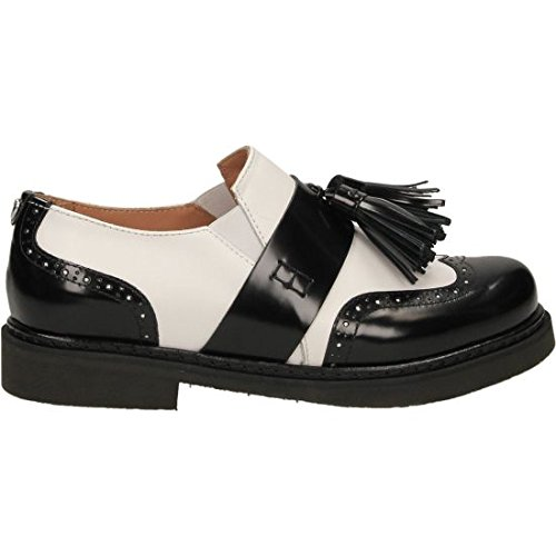 Twin-Set Cs7pga, Mocassins (loafers) femme blanc/noir