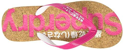Superdry Damen Cork Colour Pop Zehentrenner Multicolore (Magenta/Optic)