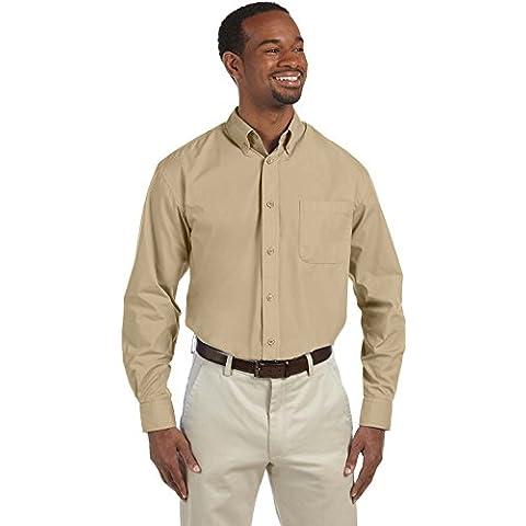 Harriton Hombre Valor Camisa de popelín