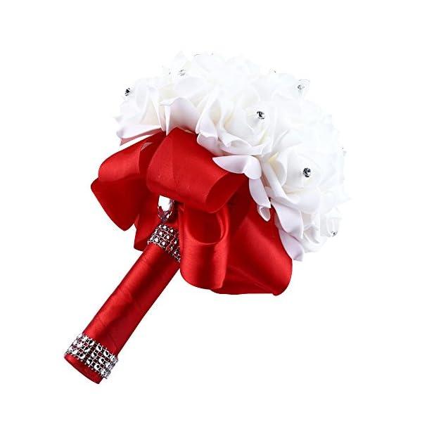 Posional Ramo Nupcial de la Novia Ramo de la Boda Ramos de Estilo Coreano Falsas Flores Artificiales Rosadas de la Boda…