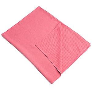 Ultrasport Antirutsch-Auflage für Gymnastikmatte, rutschfestes Yoga Handtuch mit Noppen, aus weichem Mikrofaser, Antirutsch-Tuch für Fitness, Gymnastik, Meditation & Yoga, 180 x 60 cm