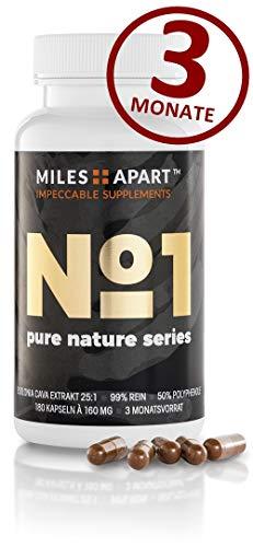No.1 von MILES APART – REINSTES und STÄRKSTES Ecklonia Cava Extrakt (25:1) auf dem Markt – 50% Polyphenole – mind. 99% rein – 3 Monatsvorrat mit 180 Kapseln á 160 mg ECE