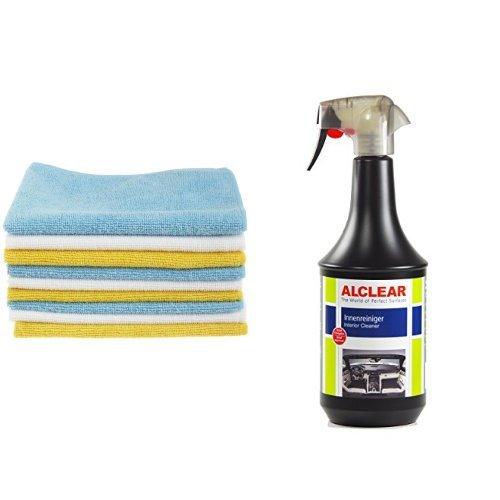 Preisvergleich Produktbild AmazonBasics Mikrofaser-Reinigungstücher, 6 Stück und ALCLEAR 721IR Innenreiniger 1.000 ml