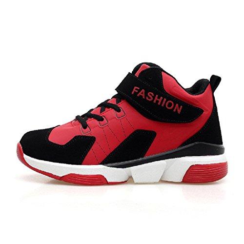 Uomo Il nuovo Autunno Inverno Scarpe da pallacanestro formatori Aumenta le scarpe Scarpe sportive Scarpe da corsa Ballerine Taglia larga euro DIMENSIONE 39-47 Red