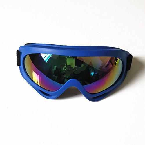 Meijunter Adultes Unisexe Motorcross Lunettes de Moto Ski Lunettes Masques de Protection Snowboard Goggle Eyewear pour Sport d'hiver