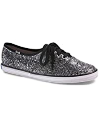 Keds Champion Glitter Baskets En Toile Mode A Paillettes (Noir)