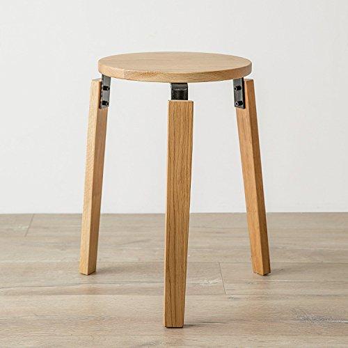 CGN Tabouret à manger, tabouret de mode Chaise de salle à manger moderne Tabouret rond Chaise en bois massif Chêne blanc moderne Simple 45 * 30cm la satisfaction (taille : 45*30cm)