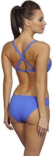 SHE Damen Badeanzug Funny Blau (110)