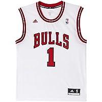 adidas Camiseta de fútbol para Hombre diseño de Mate de Baloncesto Chicago Bulls réplica ...