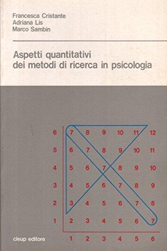 Aspetti quantitativi dei metodi di ricerca in psicologia