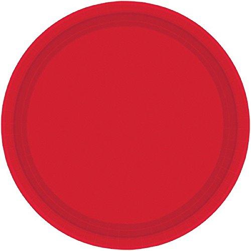 Imagen 1 de Amscan - Platos pequeños, color rojo (54015-40A)