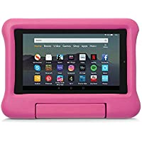Kid-Proof Case for Fire 7 Tablet   Compatible with 9th-Generation Tablet (2019 release), Pink