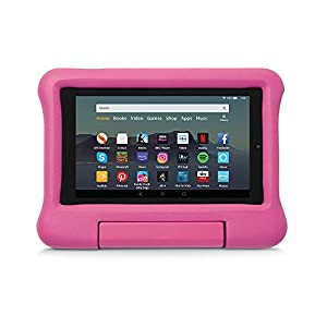 Kid-Proof Case for Fire 7 Tablet | Compatible with 9th-Generation Tablet (2019 release), Pink