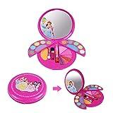 Waroomss 28PCS Mädchen-Kosmetikspielset Mit Spiegel | Waschbar & Nicht Giftig | Princess Real Makeup Kit Mit Etui | Ideales Geschenk Für Kinder