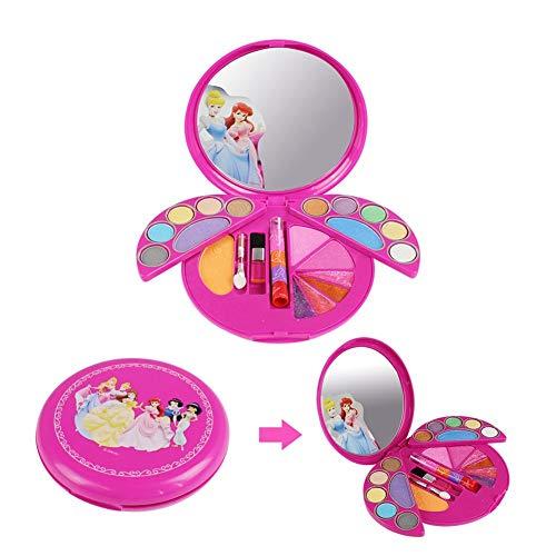 Waroomss 28PCS Mädchen-Kosmetikspielset Mit Spiegel | Waschbar & Nicht Giftig | Princess Real Makeup Kit Mit Etui | Ideales Geschenk Für ()