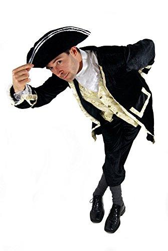 DRESS ME UP - Costume da Uomo, Pirata, Capitano, Gentiluomo, Conte, Barone, Duca, Barocco, Taglia 54