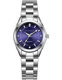 Mujer Relojes, Lananas Clásico Elegante Diamante de imitación Acero Inoxidable Correa de Reloj