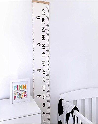 Bingolar Kinder Leinwand Höhe Messlatte Art zum Aufhängen Herrscher für Kinder Schlafzimmer Kinderzimmer Wandtattoo Decor Abnehmbare Höhe und Wachstum Diagramm 7.9 x 79in