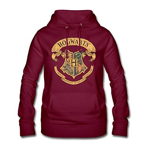 Harry Potter Hogwarts Wappen Frauen Hoodie, S (36), Bordeaux