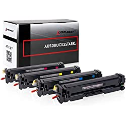 4 Logic-Seek XL Toner Kompatibel zu HP Laserjet Pro MFP M277dw CF400-X/201X - Laserjet Pro M252 M274 - Neuste Chipgeneration