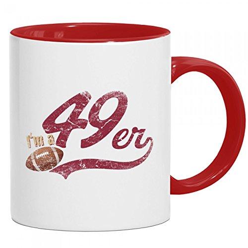 I'm a 49er Tasse | American Football | Super Bowl | San Francisco | Kaffeetasse mit Farbe | Keramik-Becher © Shirt Happenz, Farbe:Rot (Intone);Größe:onesize