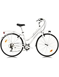 Ferrini CityLine BEVERLY Bicicleta de paseo para mujer ruedas de 28 pulgadas Shimano 7 cambios