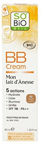 So'Bio Étic Mon Lait d'Ânesse BB Crème 02 Beige Soyeux 40 ml Lot de 2