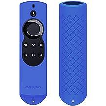 OEAGO Silicone [Anti Slip] Shock Proof Cover Case for All Fire TV with 4K Alexa Voice Remote (2017 Edition) (2nd Gen) / Fire TV Stick Alexa Voice Remote (Blue)