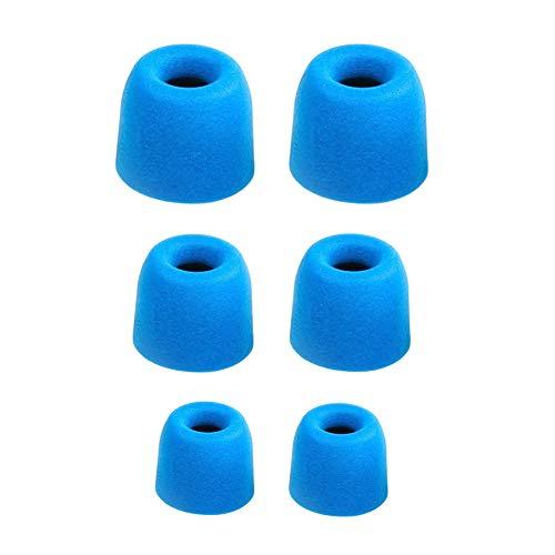 Ansemen S/M/L Gedächtnisschaum Ohreinsätze Tips für Beats X/Powerbeats3 Wireless/Powerbeats 2/urBeats3/URBEATS 2.0/URBEATS 3.0/ Diddy Beat/URBEATS 1.0,Ersatz-Ohrhörer für Kopfhörer (3 Paar,Blau)