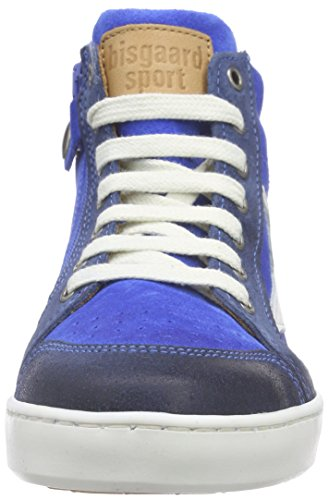Bisgaard Shoe with laces, Baskets hautes mixte enfant Bleu - Blau (25 Jeans)
