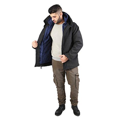 AFF - manteau doublé Homme interne - AFF61CN-UNI Gris