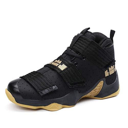 Männer Basketball-Schuhe Super Star Ultra Boost Basket Ballschuhe Unisex-Turnschuhe (Farbe : Black Gold, Größe : 8=42 EU)