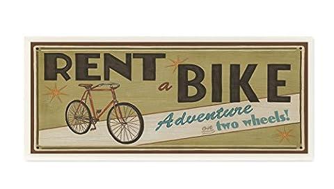 Die Stupell Home Decor Kollektion khaki Rent A Bike Store Schild,