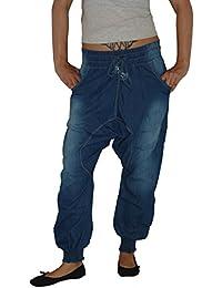 HaremS Sarouel Aladin Jeans Hose, PumphoSe, PluderhoSe, Dehnbund