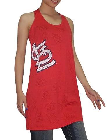 MLB St. Louis Cardinals Damen Athletisch Rundhals T-Shirt (Vintage-Look) L