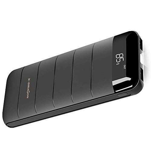 X-DRAGON Externer Akku Slim 15600mAh Powerbank Handy Ladegerät (2A Eingang, Digi-Power Technologie und Bright LED) für Smartphone, iPhone 7 6 6S Plus 5S, iPad, Huawei, Samsung und Tablet